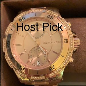 🎉HP🎉 🌹 MK Rose Gold tone chronograph watch